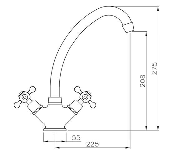 Technical drawing QS-V79854 / AT1015
