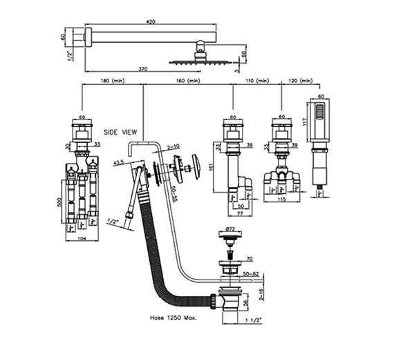 Technical drawing QS-V79865 / AB3103