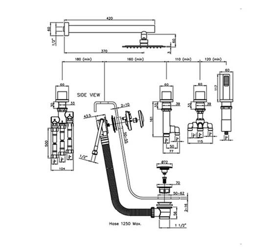 Technical drawing QS-V79867 / AB3105