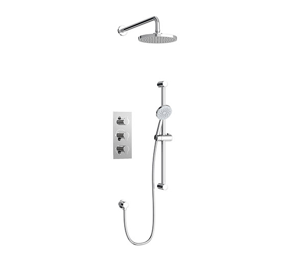 Britton Concealed Thermostatic Shower Valve With 3 Control And Kit