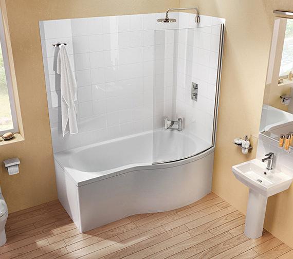 Britton Cleargreen EcoRound 1700 x 900mm Left Hand Shower Bath