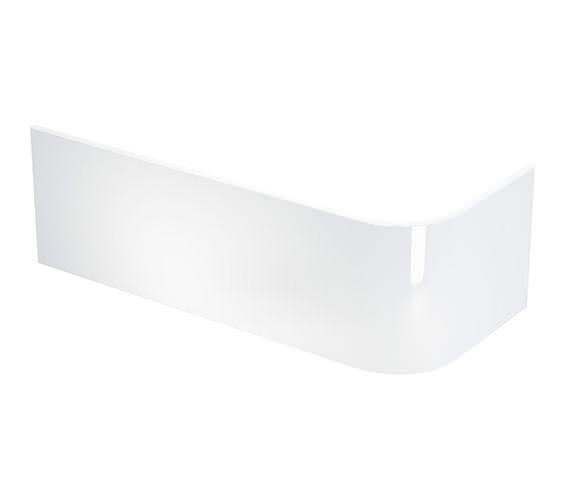 Britton Cleargreen Viride Offset White Bath Panel - R40