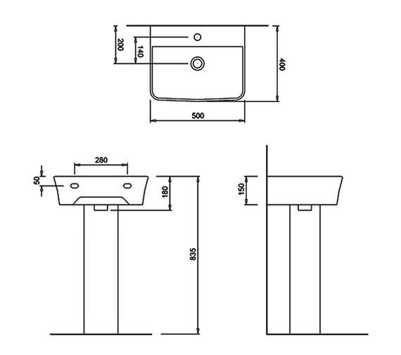 Technical drawing QS-V8174 / 401974