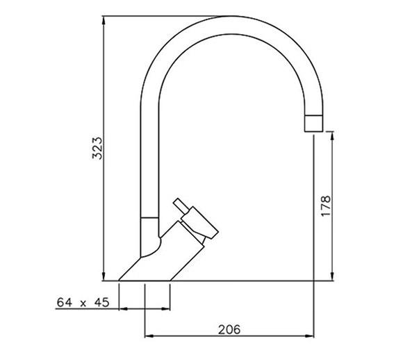 Technical drawing QS-V8206 / AT1105