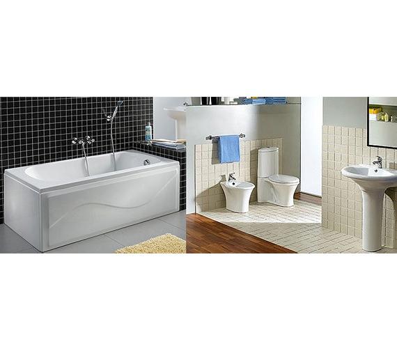 Aqva Verizon White Bathroom Suite