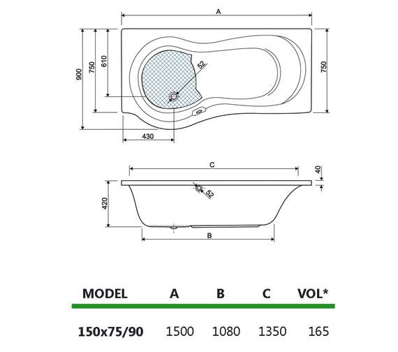 Technical drawing QS-V980017 / 154IRIS15RH