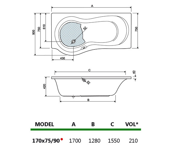 Technical drawing QS-V980018 / 154IRIS17RH