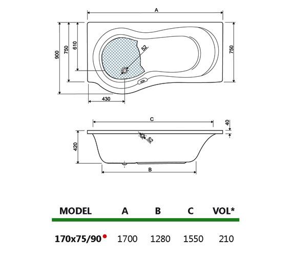 Technical drawing QS-V980018 / 154IRIS17RH