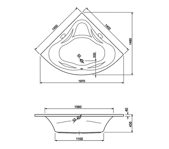 Technical drawing QS-V980022 / 200AMBASS14CWS08