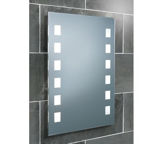 HIB Halifax Fluorescent Back-Lit Bathroom Mirror 500 x 700mm