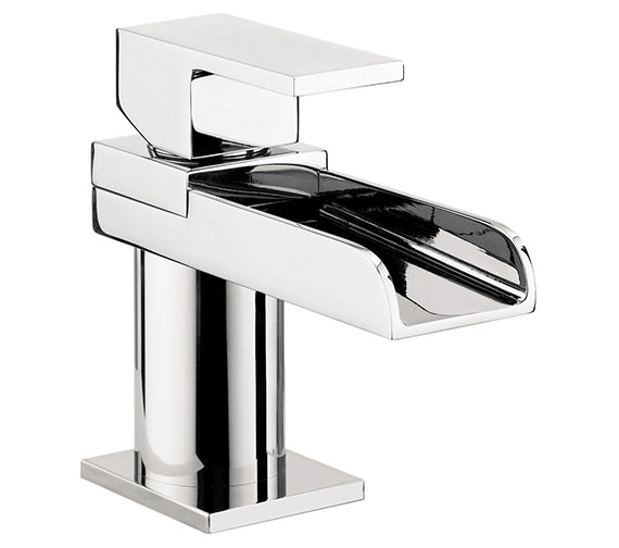 Crosswater Water Square Mini Monobloc Basin Mixer Tap - WS114DNC