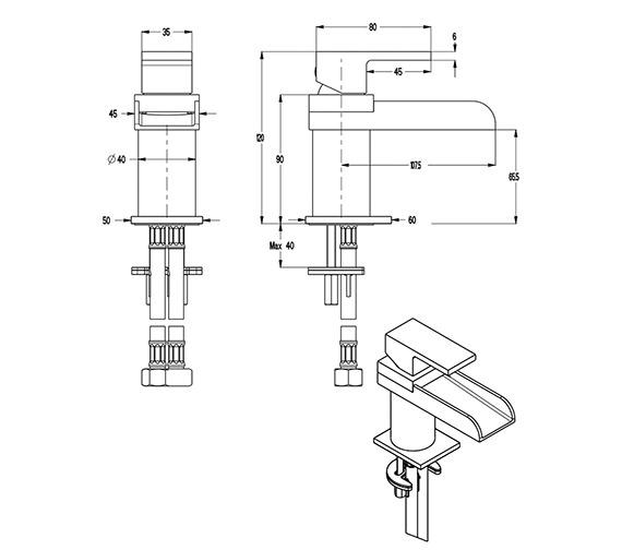 Technical drawing QS-V9999001 / WS114DNC