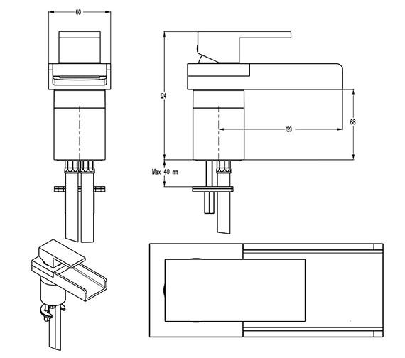 Technical drawing QS-V9999005 / WS110DNC