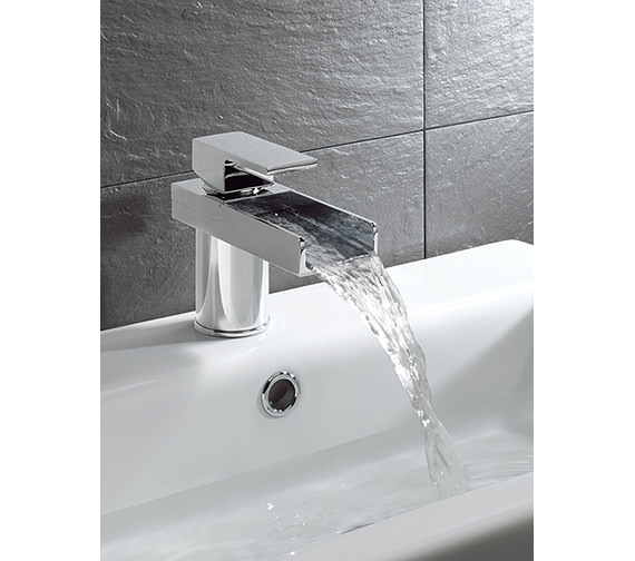 Crosswater Water Square Monobloc Basin Mixer Tap - WS110DNC