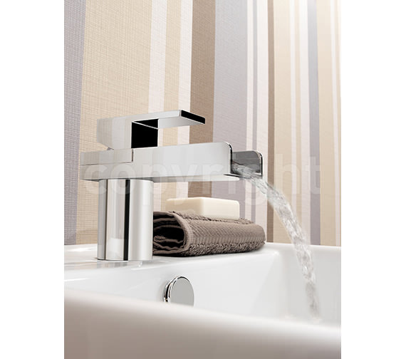 Additional image of Crosswater Water Square Monobloc Basin Mixer Tap - WS110DNC