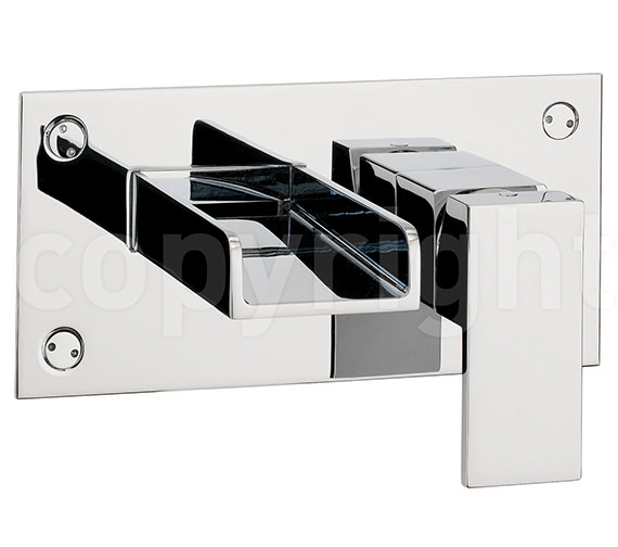 Square Wall Mounted Basin : Crosswater Water Square Wall Mounted 2 Hole Basin Mixer Tap WS121WNC