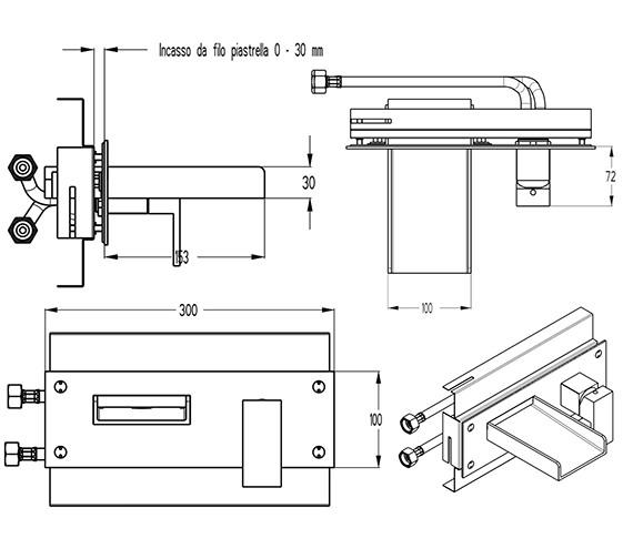 Technical drawing QS-V9999012 / WS321WC