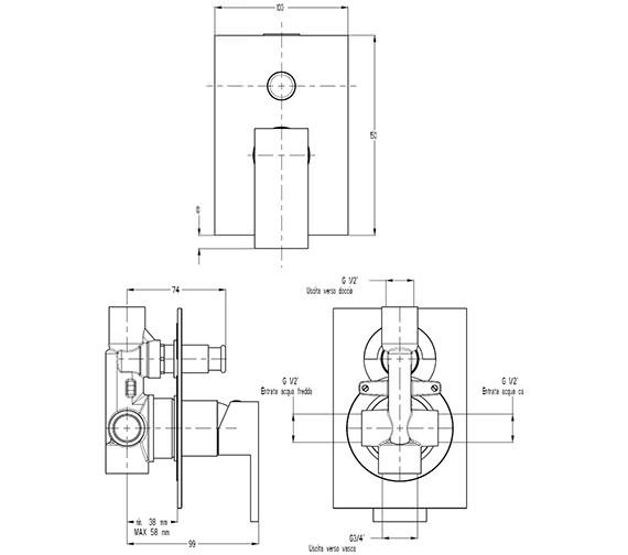 Technical drawing QS-V9999014 / WS0005RC
