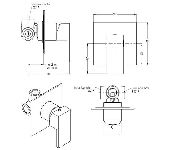 Technical drawing QS-V9999015 / WS0004RC