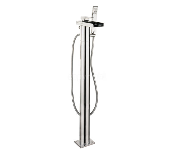 Crosswater Water Square Floor Standing Bath Shower Mixer Tap With Kit