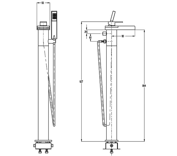 Technical drawing QS-V9999016 / WS415FC
