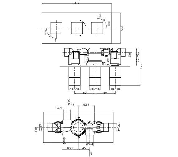 Technical drawing QS-V9999018 / WS2000RC