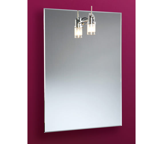 HIB Leila Illuminated Bathroom Mirror With Halogen Light 500 x 700mm