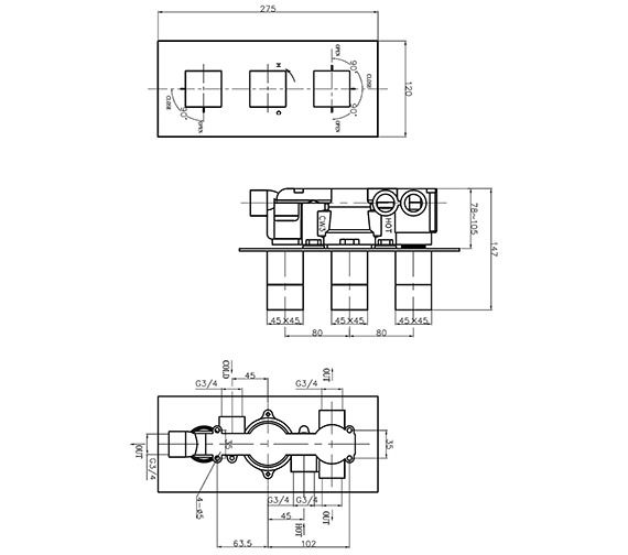 Technical drawing QS-V9999022 / WS3001RC