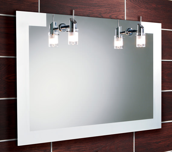 HIB Felix Landscape Illuminated Mirror With Halogen Lights 900 x 600mm