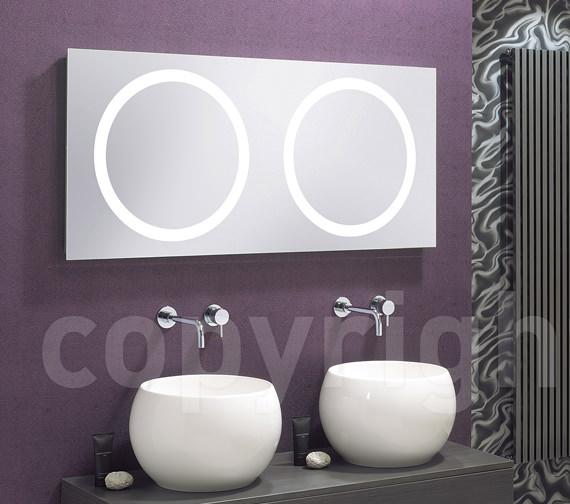 Alternate image of Bauhaus Edge Illuminated Mirror 1200 x 550mm