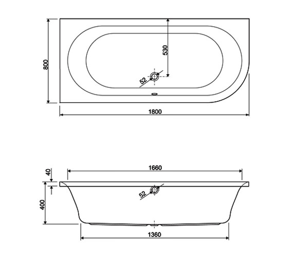 Technical drawing QS-V999992 / 154METAURO2RH1880