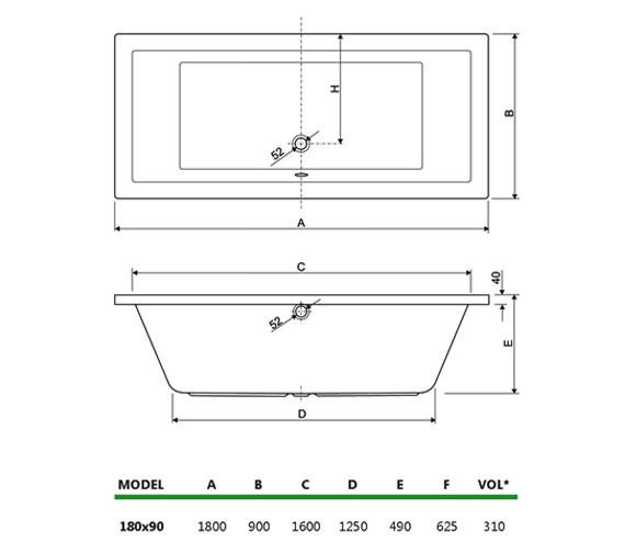 Technical drawing QS-V999993 / 154PLANE1890