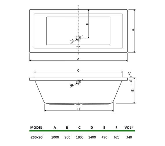 Technical drawing QS-V999995 / 154PLANE2090