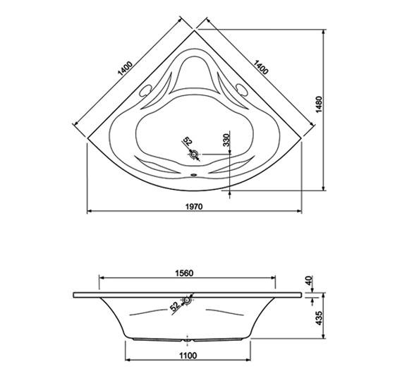 Technical drawing QS-V999997 / 200AMBASS14CWS06