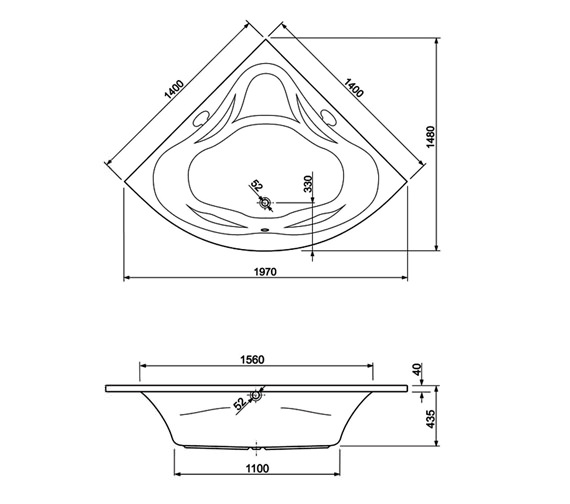Technical drawing QS-V999998 / 154AMBASS14