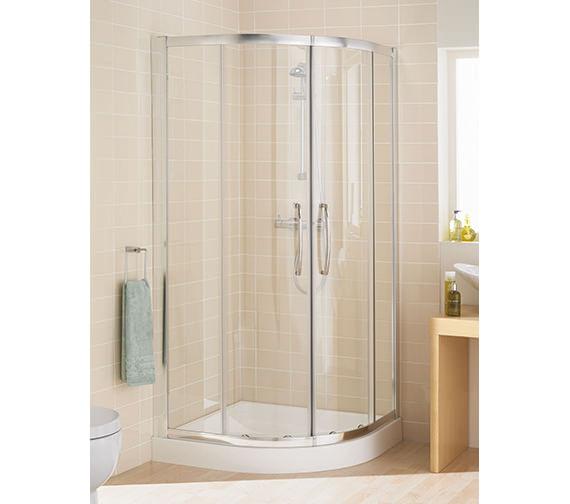 Lakes Classic Silver Quadrant Plus Shower Enclosure - 1850mm Height