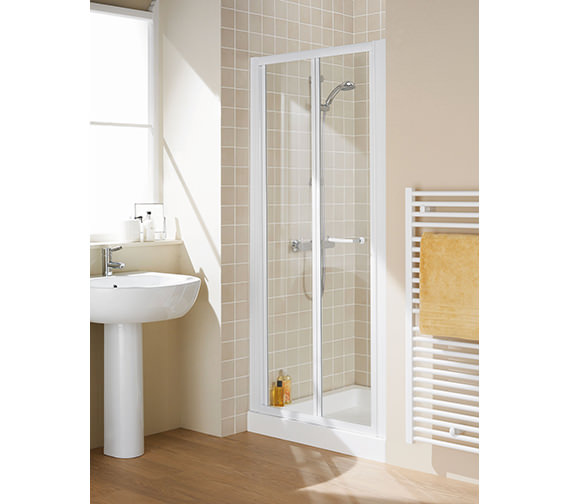 Lakes Classic Silver Semi Frame-less Bi-Fold Door 700 x 1850mm