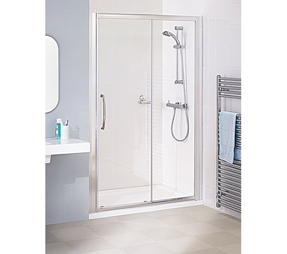 Lakes Classic Silver Semi Frame-less Slider Door 1200 x 1850mm
