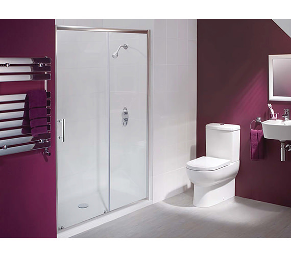 Alternate image of Beo Framed Sliding Shower Door 1600mm