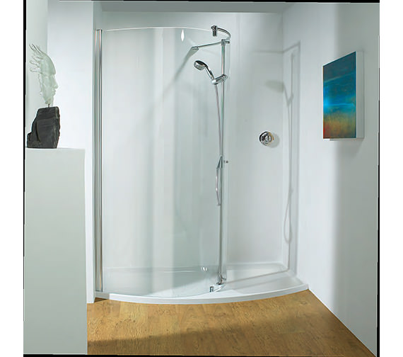 Kudos Ultimate 1400mm RH Curved Panel Walk-In Package Recess