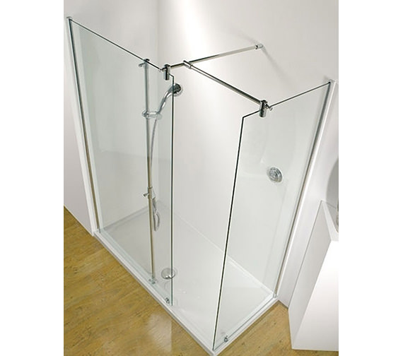 Ultimate 1500mm RH Walk-In Corner Shower Enclosure With Tray And Waste