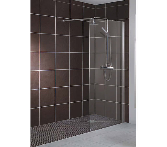 Additional image of Beo 700mm Straight Wetroom Screen With Single Support Arm
