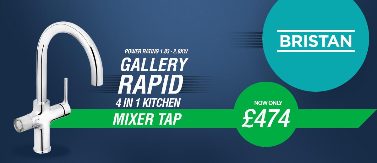 Bristan Gallery Rapid Boiling 4-In-1 Kitchen Sink Mixer Tap